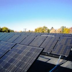 Rows of commercial solar panels at the Hyrum City Public Works - Gardner Energy