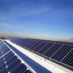 Rows of commercial arrays installed in Ogden, Utah - Gardner Energy