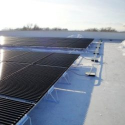 Commercial rooftop with solar panels in Draper, Utah - Gardner Energy