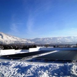 Rows of horizontal solar panels in Draper, Utah - Gardner Energy
