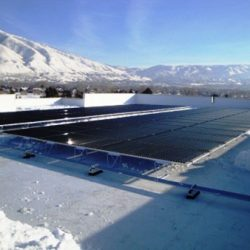 City Public Works building with commercial solar panels - Gardner Energy