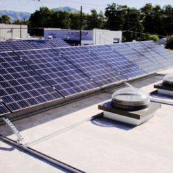 Commercial solar panel array in Salt Lake City - Gardner Energy