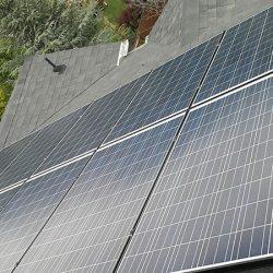 Solar panels and residential roof in Salt Lake City - Gardner Energy