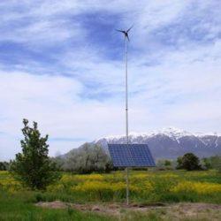 Solar panel in a field at the Ogden Nature Center - Gardner Energy