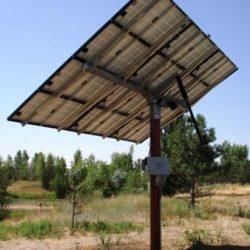Installed solar panel at Ogden Nature Center - Gardner Energy