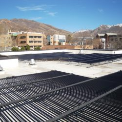Horizontal solar panels and framework for installation in Salt Lake City - Gardner Energy