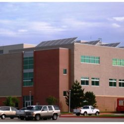 A building at Weber State University with commercial solar panels - Gardner Energy