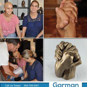 mother daughter holding hands sculpture