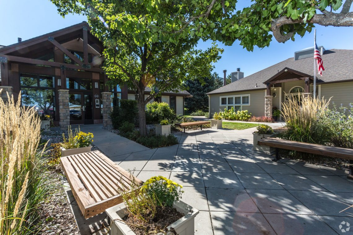 The entry grounds at Gateway Place Apartments to our clubhouse and gym