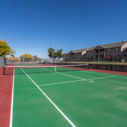 Tennis courts just outside of our apartment buildings - Gateway Place Apartments