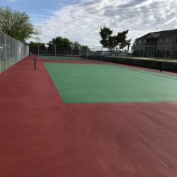 Two outdoor tennis courts at Gateway Place Apartments