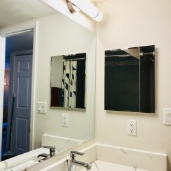 Apartment bathroom vanity with upgraded countertop - Gateway Place Apartments