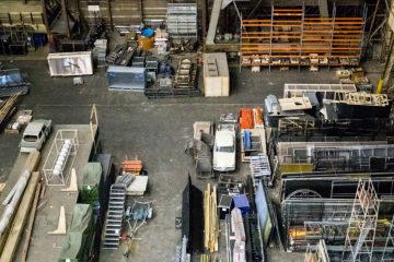 An image of various items being stored in storage units