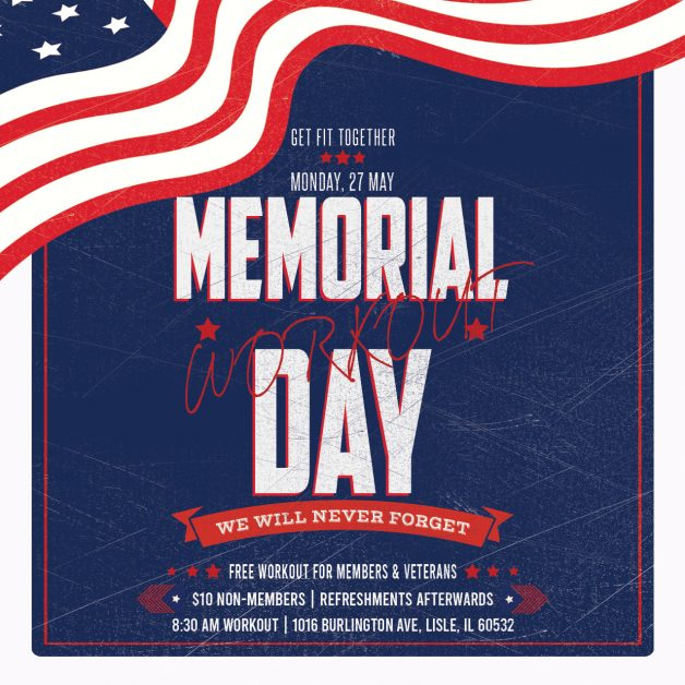 Get-Fit Memorial Day Graphic Flyer