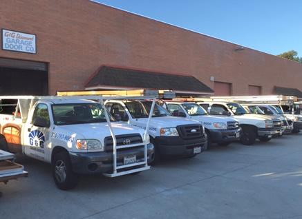 The G&G Garage door fleet of installers ready to go!