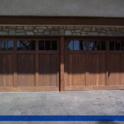Stained to perfection by G&G Garage Doors