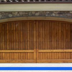 Oak custom garage door from G&G Garage door.