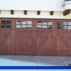 Windows and wood on this door from G&G Garage doors