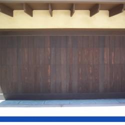 Dark Wood on a full length vertical door from G&G Garage doors