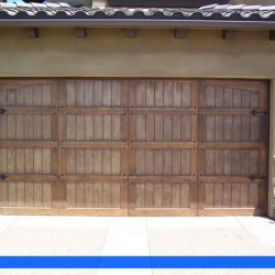 Classic styling in light wood from G&G Garage Doors