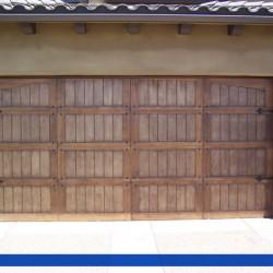 Rustic details on this wood door from G&G Garaged Doors