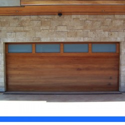 Contemporary wood door from G&G Garage Door