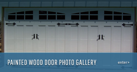 Custom painted wood doors by G&G Garage doors