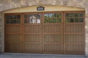 Wooden and glass custom doors from G&G Garage Doors