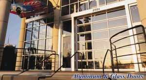 Aluminum and Glass Doors for your business from G&G Garage Door
