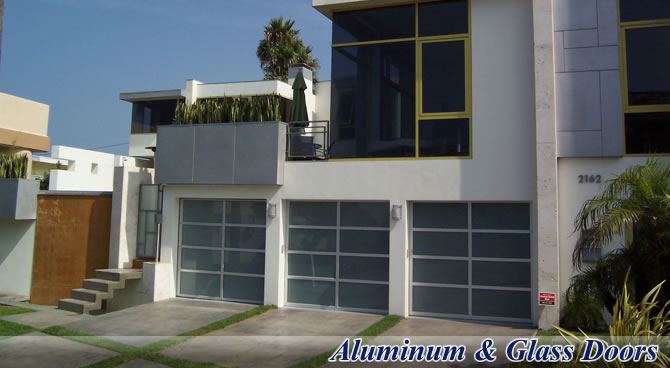 Glass industrial doors from G&G Garage Door