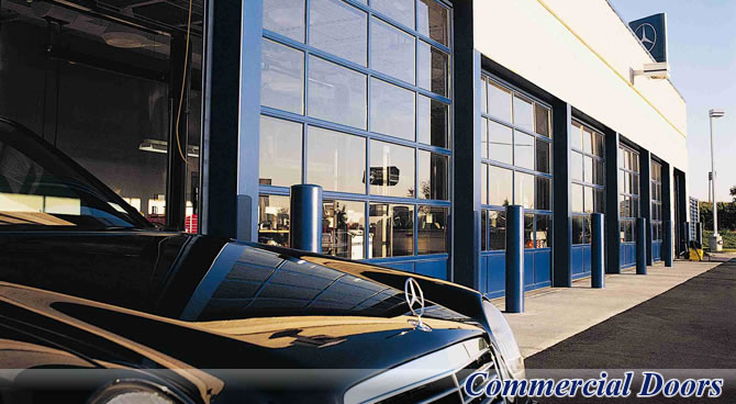 Commercial door solutions for your dealership from G&G Garage Door