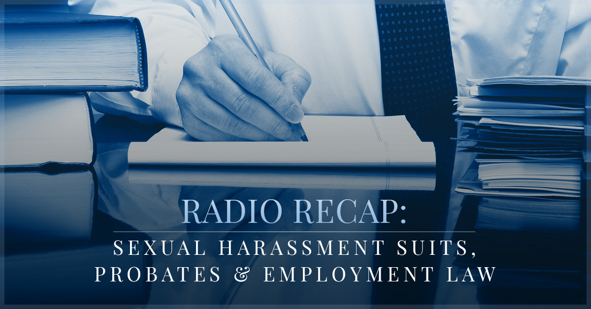 Legal definition of sexual harassment quid pro quo on the radio