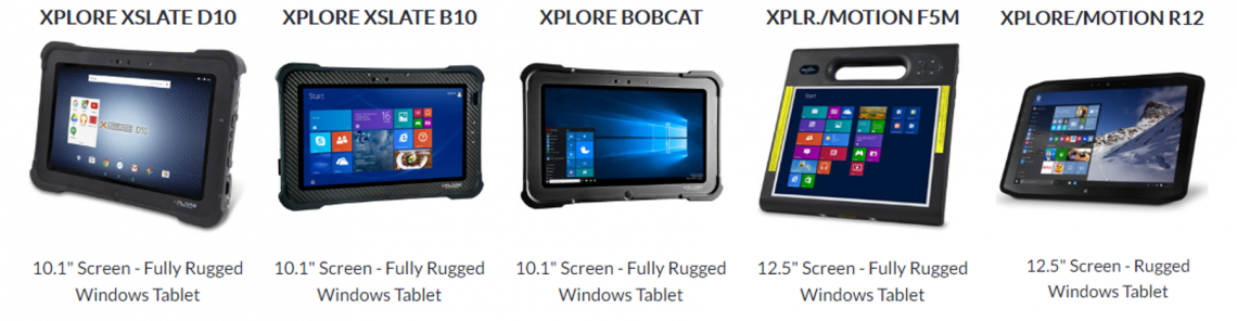 Glacier Xplore Rugged Tablets
