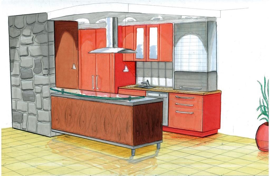 Kitchen Concept Design Sketch Globerdesign