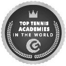 "Icon graphic of ""top tennis academies of the world"""