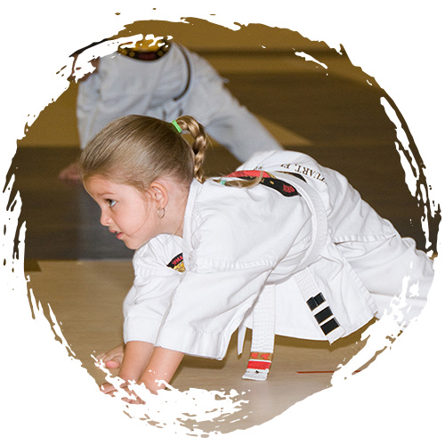 A child doing karate at Grandmaster Amy Reed's Black Belt Academy in Stuart, FL.