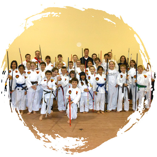 A kids' self-defense class at Grandmaster Amy Reed's Black Belt Academy in Stuart, FL.