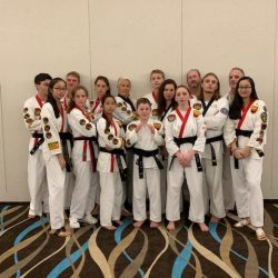 A group of karate kids at Grandmaster Amy Reed's Black Belt Academy in Stuart, FL.