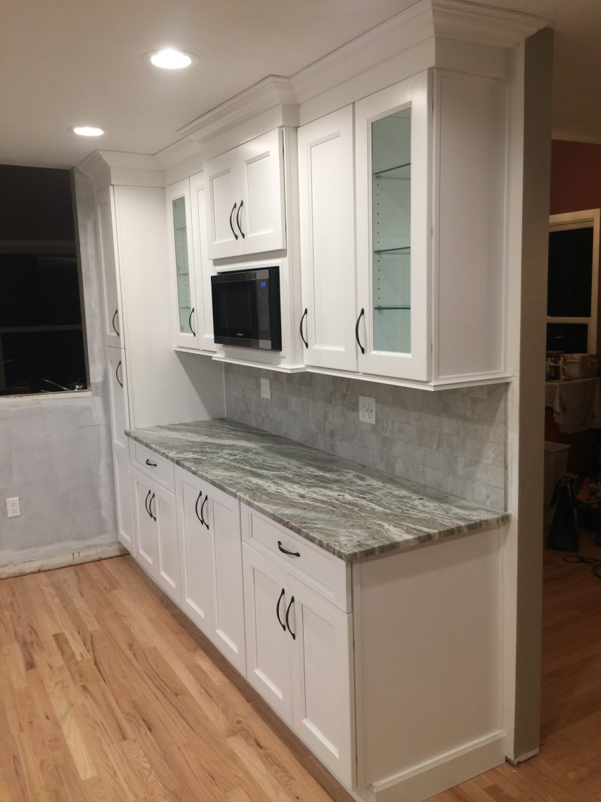 designs inc and using quartz island honed cabinets a remodel kitchen with marble countertops remodels lowes