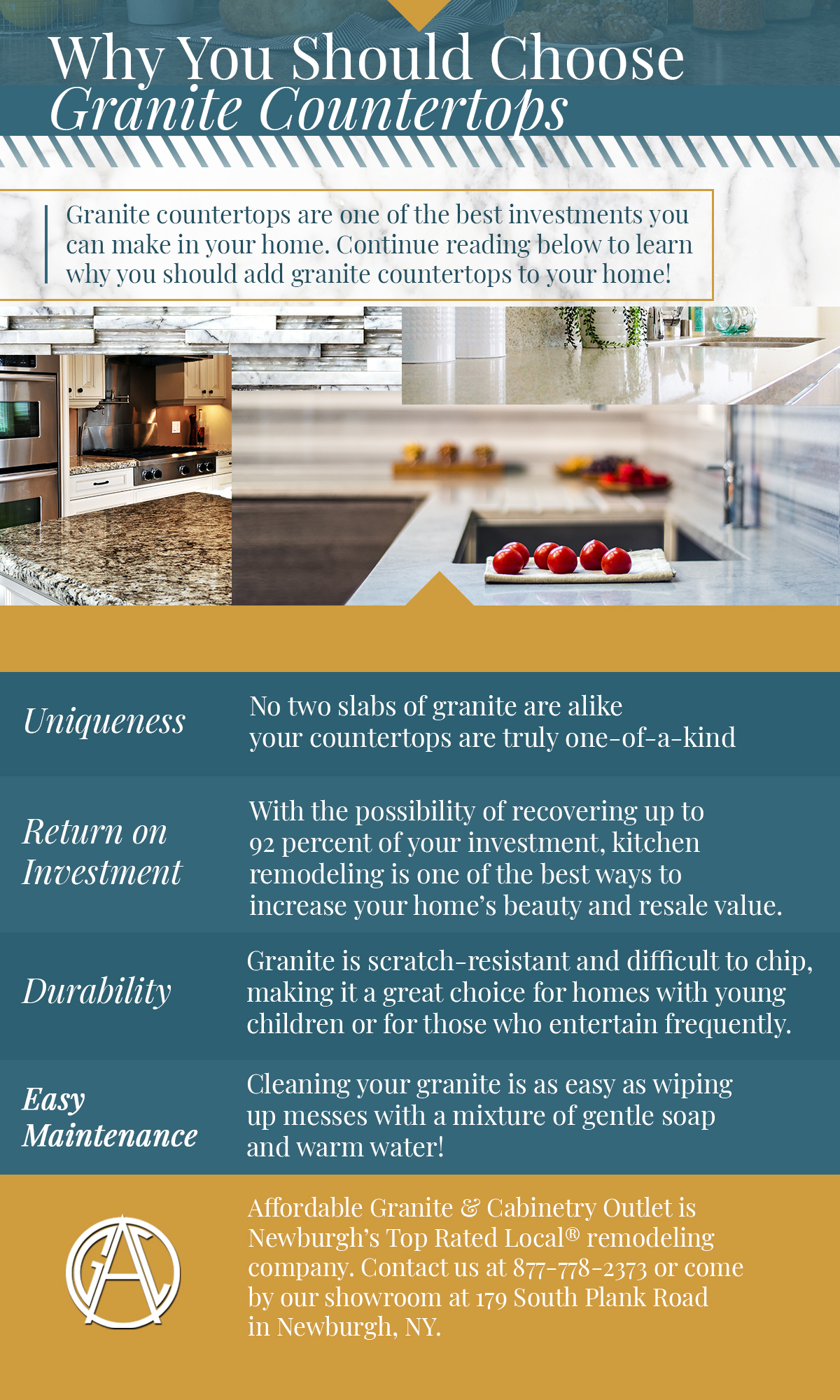 Kitchen Remodeling Newburgh: Why You Should Choose Granite Countertops