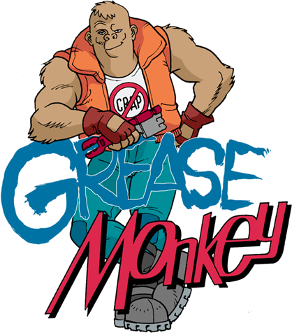 Grease Monkey Garage Door