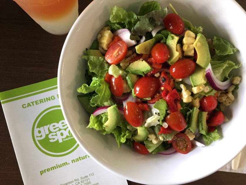 fresh healthy salad to go in san diego