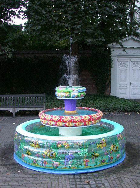 inflatable pool fountain