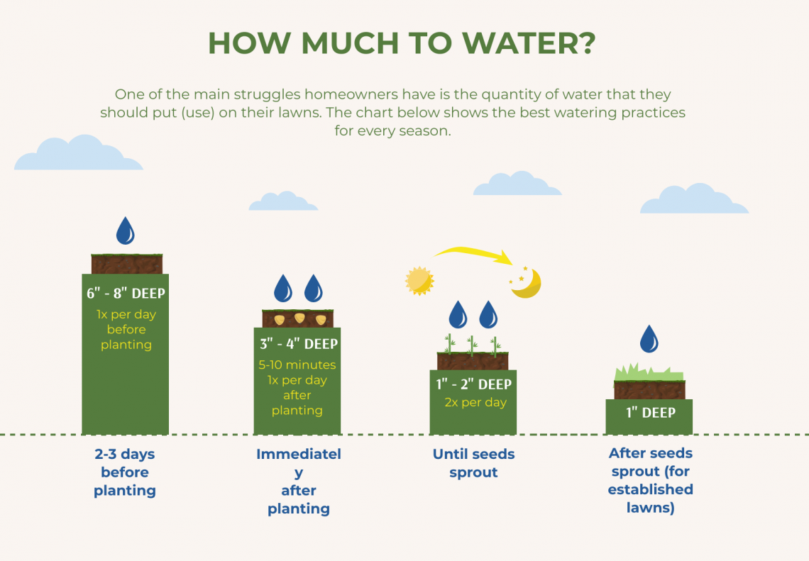 how much to water lawn