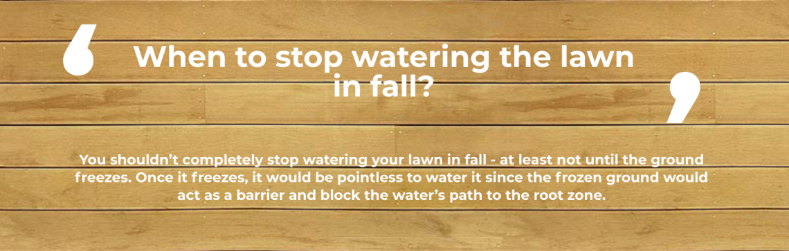 watering in fall