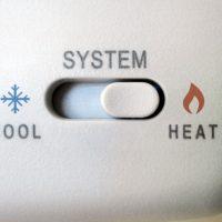 Thermostat Set to Heat