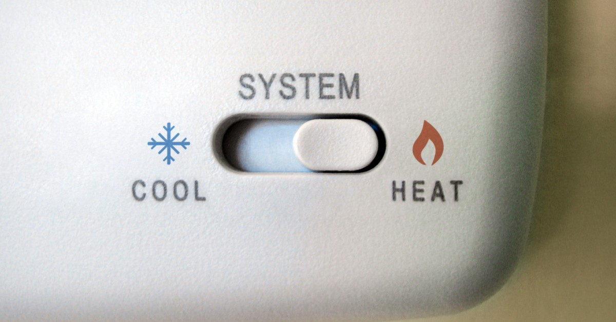 Thermostat Set to Heat