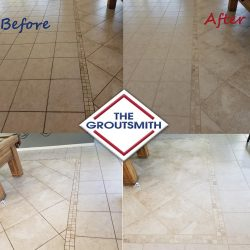 Before and After Tile Cleaning in Living Room