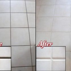 Grout Repair Before and After