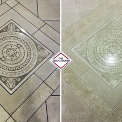 Grout and Tile Cleaning Before and After